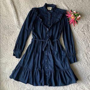 Kate Spade Long Sleeve Denim Dress Size XS